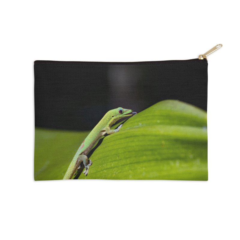 Gold Dust Day Gecko No. 2 Accessories Zip Pouch by CLINTZERO ONLINE SHOP