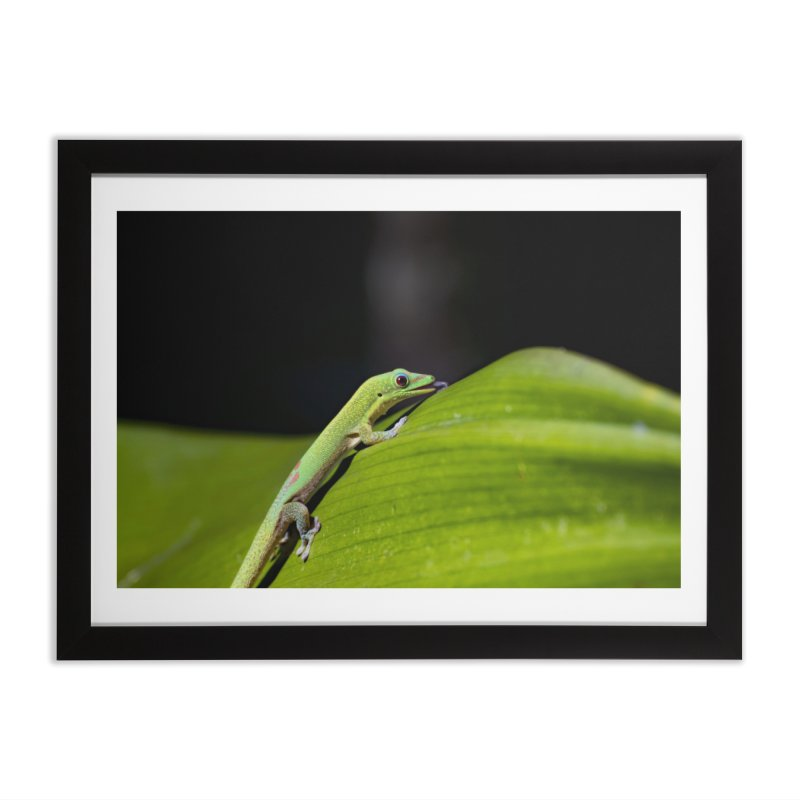 Gold Dust Day Gecko No. 2 Home Framed Fine Art Print by CLINTZERO ONLINE SHOP