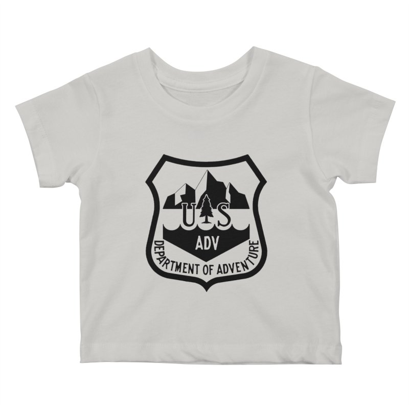 Dept. of Adventure - Alpine Kids Baby T-Shirt by CLINTZERO ONLINE SHOP