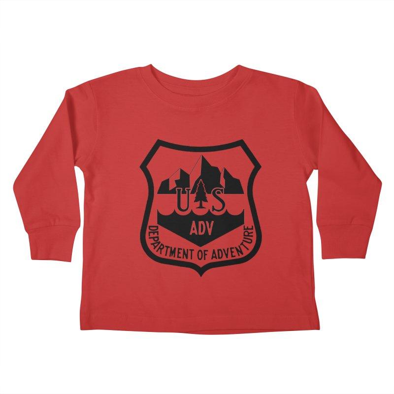 Dept. of Adventure - Alpine Kids Toddler Longsleeve T-Shirt by CLINTZERO ONLINE SHOP