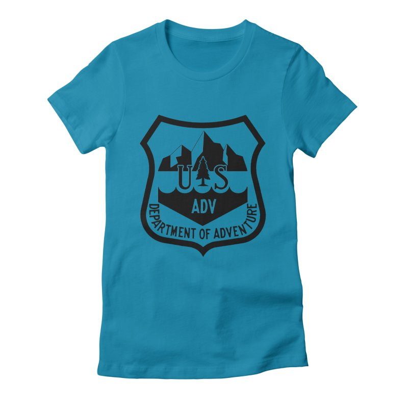 Dept. of Adventure - Alpine Women's Fitted T-Shirt by CLINTZERO ONLINE SHOP