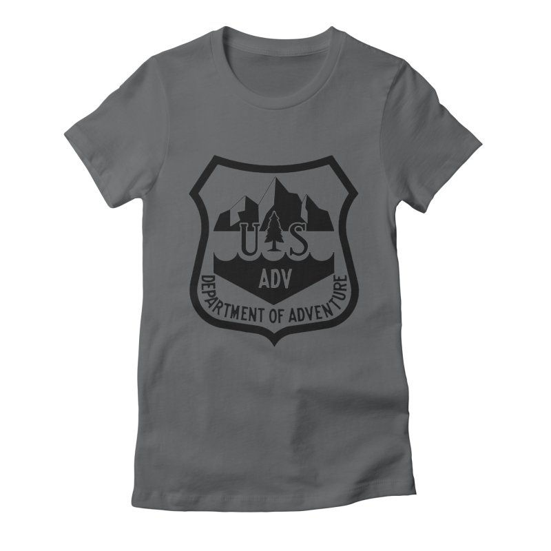 Dept. of Adventure - Alpine Women's Fitted T-Shirt by CLINTZERO ONLINE SHOP