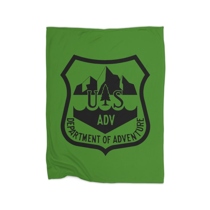 Dept. of Adventure - Alpine Home Fleece Blanket Blanket by CLINTZERO ONLINE SHOP