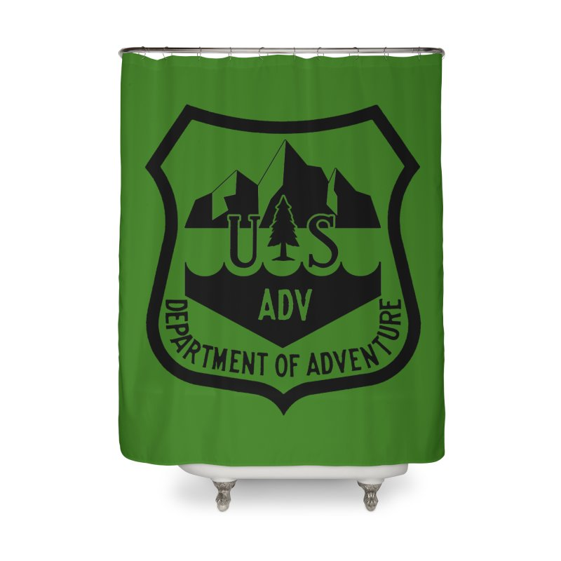 Dept. of Adventure - Alpine Home Shower Curtain by CLINTZERO ONLINE SHOP