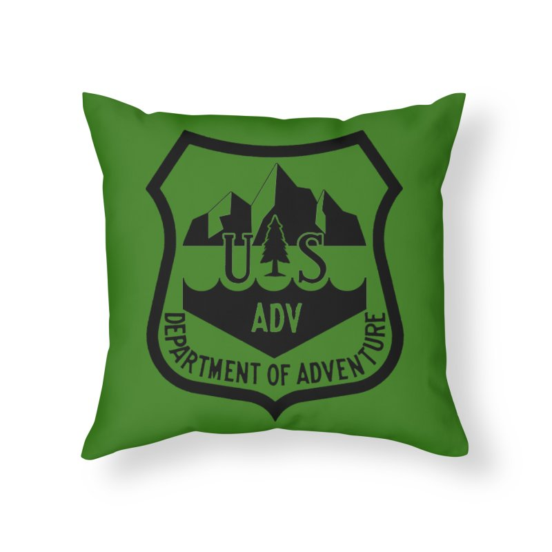 Dept. of Adventure - Alpine Home Throw Pillow by CLINTZERO ONLINE SHOP