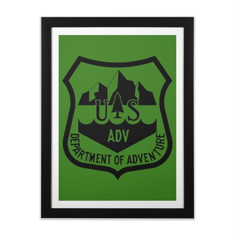 Dept. of Adventure - Alpine Home Framed Fine Art Print by CLINTZERO ONLINE SHOP