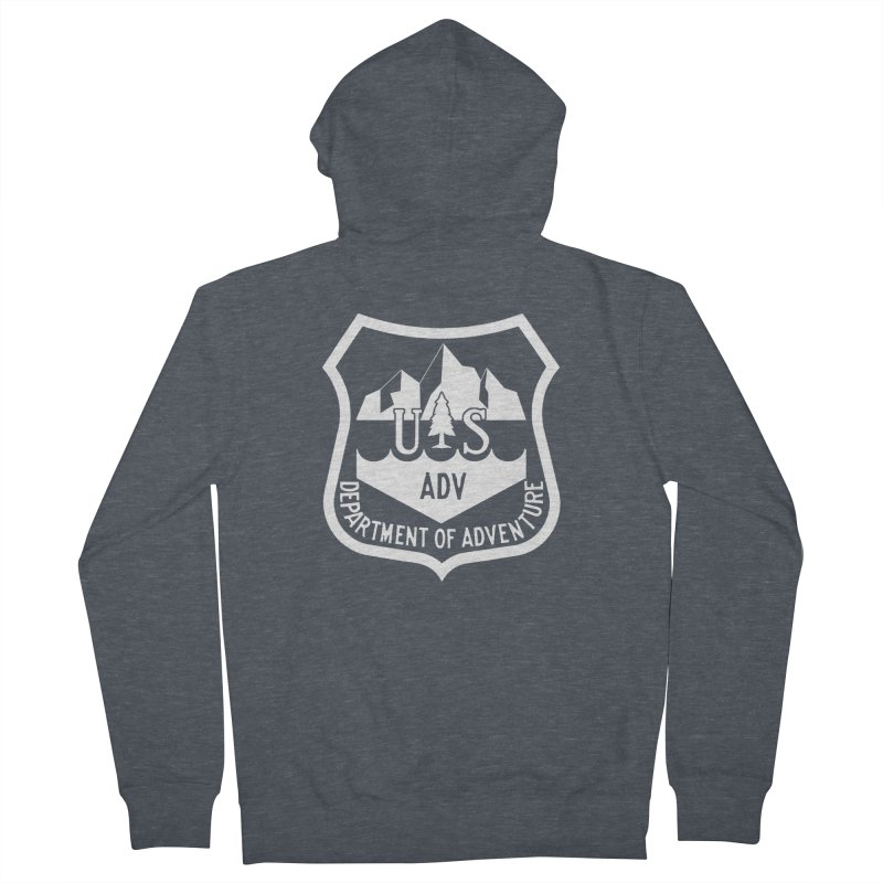 Dept. of Adventure - Alpine (Inverted) Women's French Terry Zip-Up Hoody by CLINTZERO ONLINE SHOP