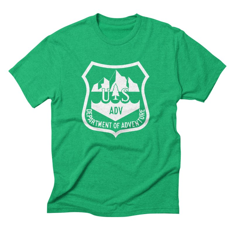Dept. of Adventure - Alpine (Inverted) Men's Triblend T-Shirt by CLINTZERO ONLINE SHOP
