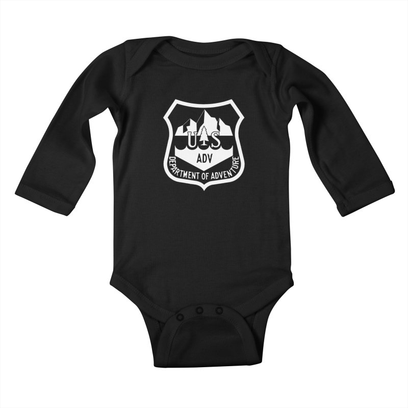 Dept. of Adventure - Alpine (Inverted) Kids Baby Longsleeve Bodysuit by CLINTZERO ONLINE SHOP