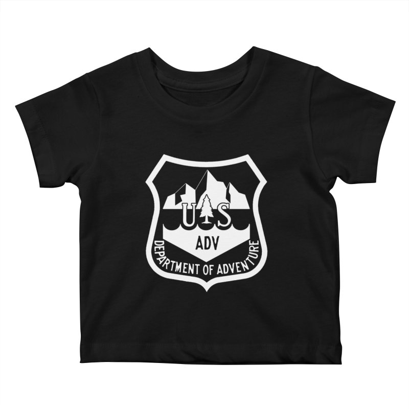 Dept. of Adventure - Alpine (Inverted) Kids Baby T-Shirt by CLINTZERO ONLINE SHOP