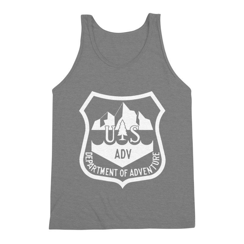 Dept. of Adventure - Alpine (Inverted) Men's Triblend Tank by CLINTZERO ONLINE SHOP