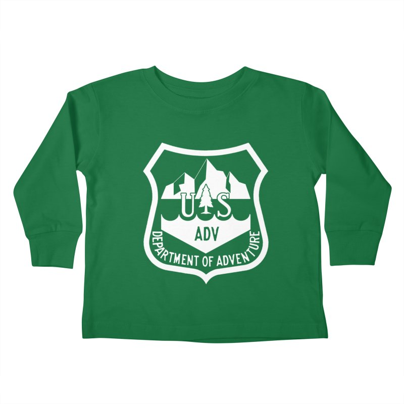 Dept. of Adventure - Alpine (Inverted) Kids Toddler Longsleeve T-Shirt by CLINTZERO ONLINE SHOP