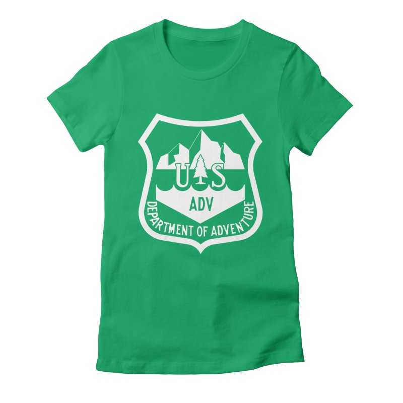 Dept. of Adventure - Alpine (Inverted) Women's Fitted T-Shirt by CLINTZERO ONLINE SHOP
