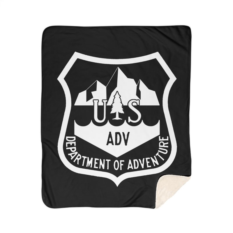 Dept. of Adventure - Alpine (Inverted) Home Sherpa Blanket Blanket by CLINTZERO ONLINE SHOP