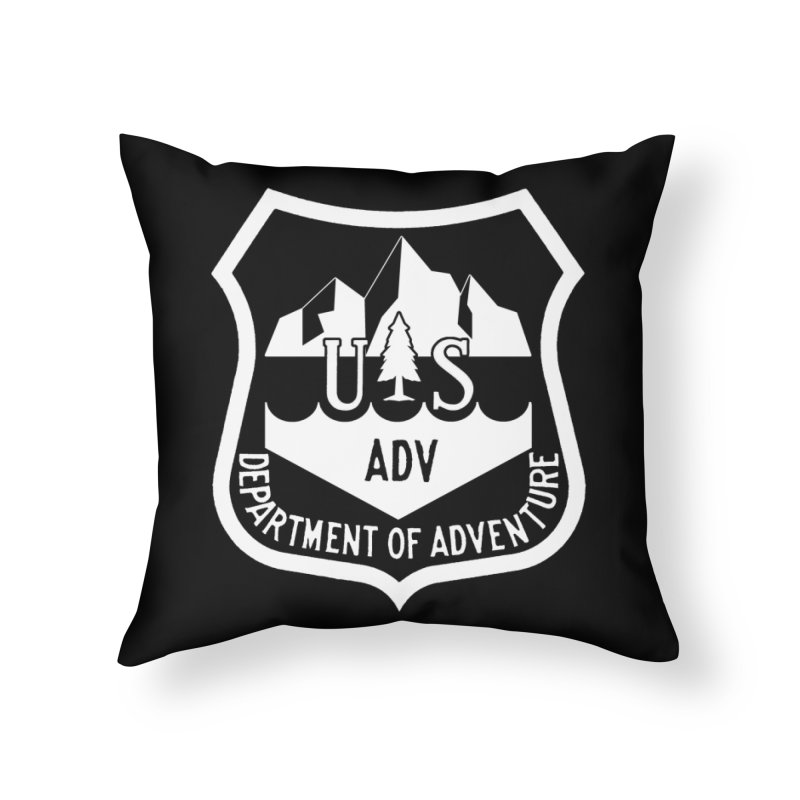 Dept. of Adventure - Alpine (Inverted) Home Throw Pillow by CLINTZERO ONLINE SHOP