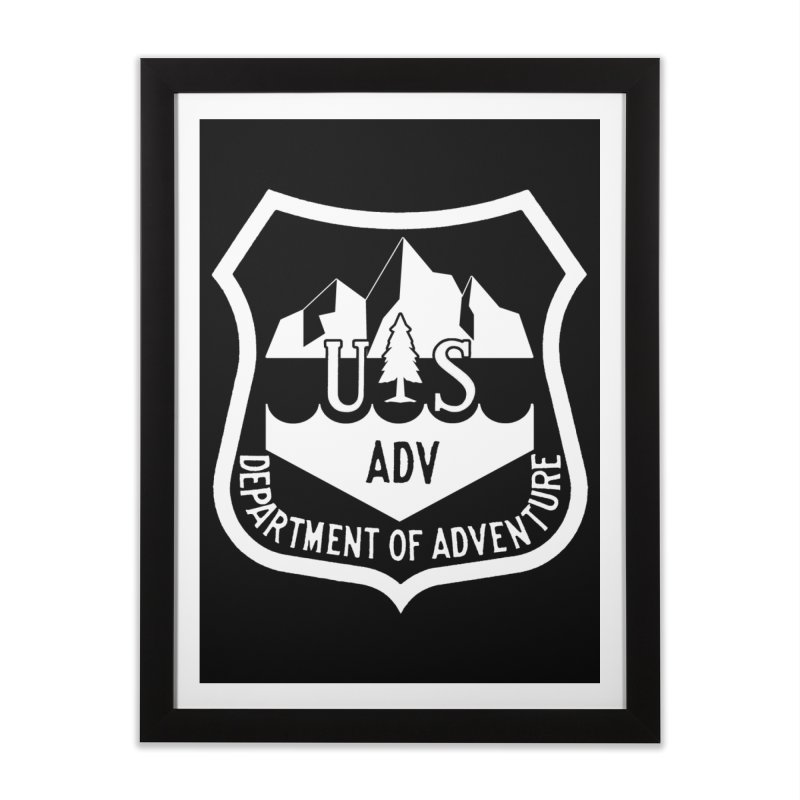 Dept. of Adventure - Alpine (Inverted) Home Framed Fine Art Print by CLINTZERO ONLINE SHOP