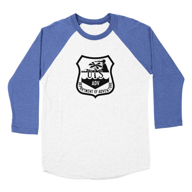 Dept. of Adventure - Tropical Men's Baseball Triblend Longsleeve T-Shirt by CLINTZERO ONLINE SHOP