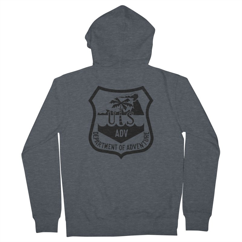 Dept. of Adventure - Tropical Women's French Terry Zip-Up Hoody by CLINTZERO ONLINE SHOP