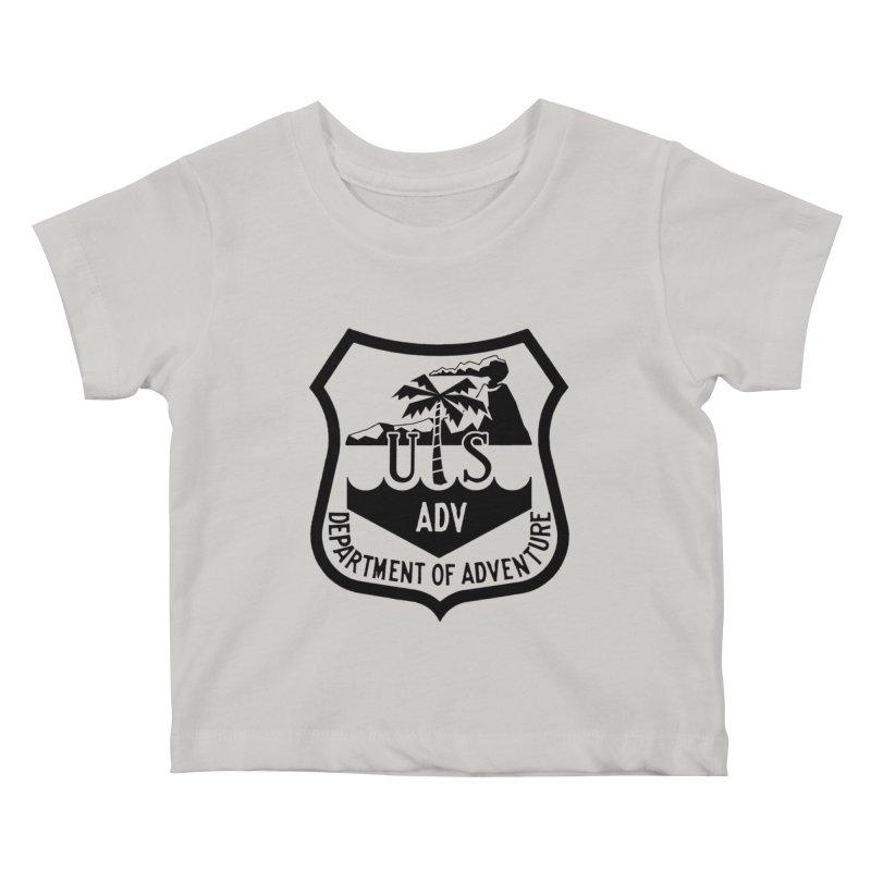 Dept. of Adventure - Tropical Kids Baby T-Shirt by CLINTZERO ONLINE SHOP