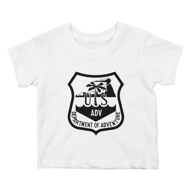 Dept. of Adventure - Tropical Kids Baby T-Shirt by CLINTZERO ONLINE SHOP