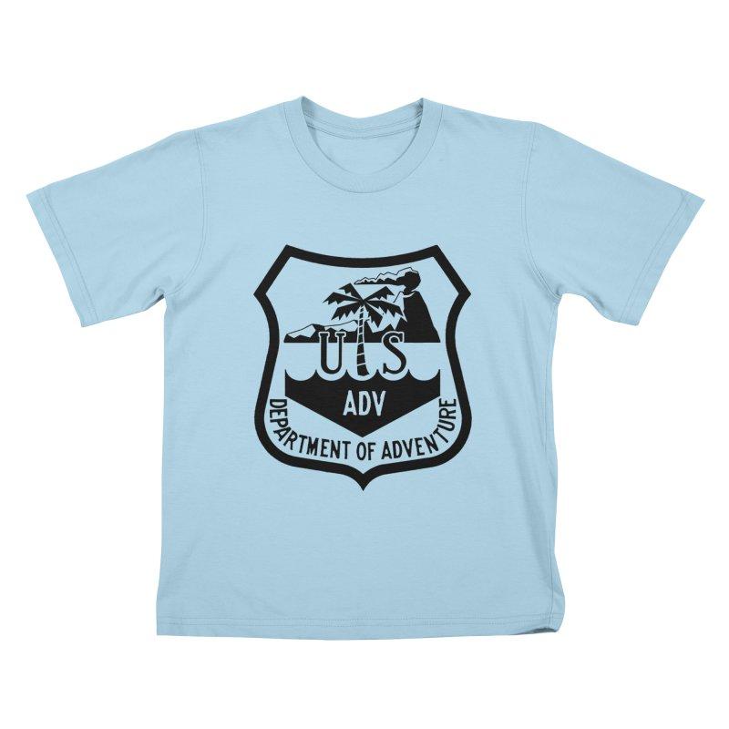 Dept. of Adventure - Tropical Kids T-shirt by CLINTZERO ONLINE SHOP