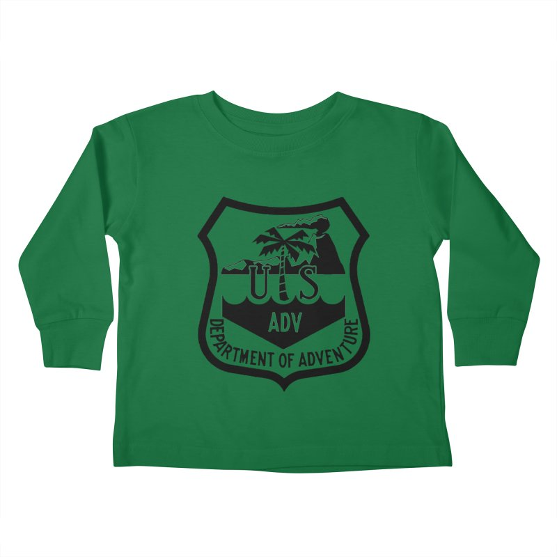 Dept. of Adventure - Tropical Kids Toddler Longsleeve T-Shirt by CLINTZERO ONLINE SHOP