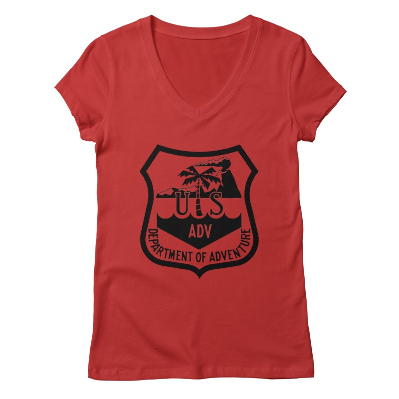 Dept. of Adventure - Tropical Women's Regular V-Neck by CLINTZERO ONLINE SHOP
