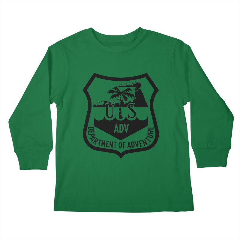 Dept. of Adventure - Tropical Kids Longsleeve T-Shirt by CLINTZERO ONLINE SHOP