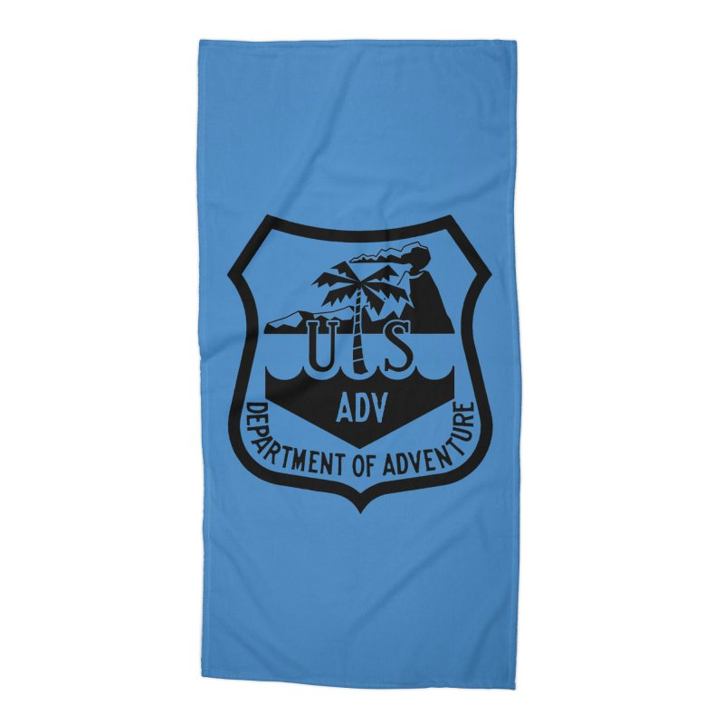 Dept. of Adventure - Tropical Accessories Beach Towel by CLINTZERO ONLINE SHOP