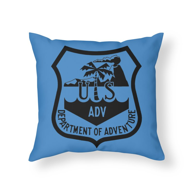 Dept. of Adventure - Tropical Home Throw Pillow by CLINTZERO ONLINE SHOP