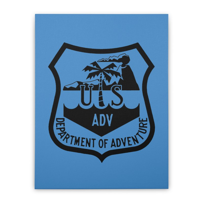 Dept. of Adventure - Tropical Home Stretched Canvas by CLINTZERO ONLINE SHOP