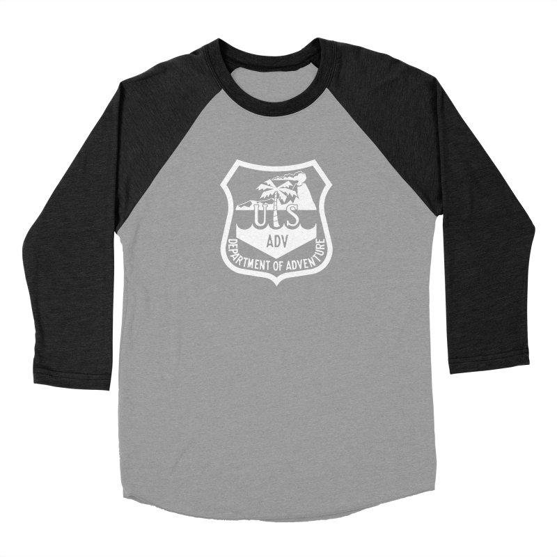 Dept. of Adventure - Tropical (Inverted) Men's Baseball Triblend Longsleeve T-Shirt by CLINTZERO ONLINE SHOP