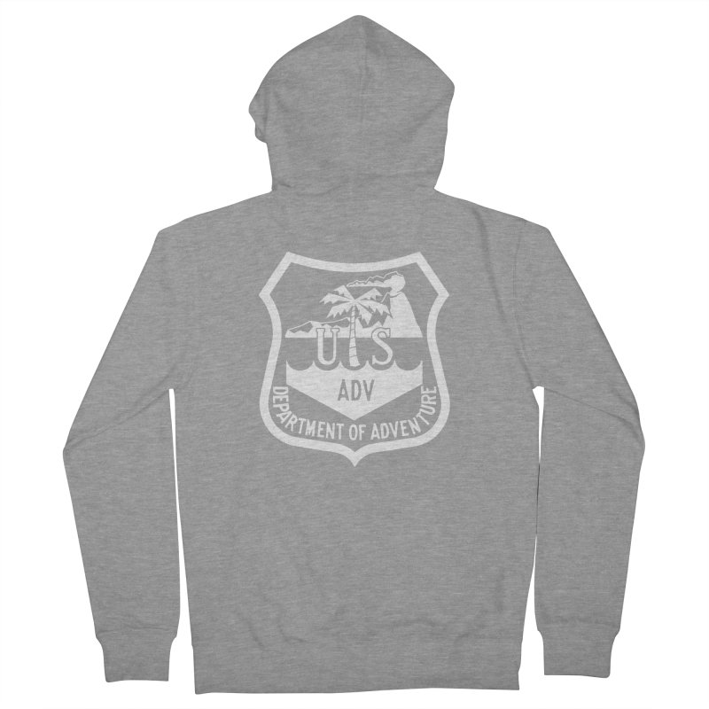 Dept. of Adventure - Tropical (Inverted) Men's French Terry Zip-Up Hoody by CLINTZERO ONLINE SHOP