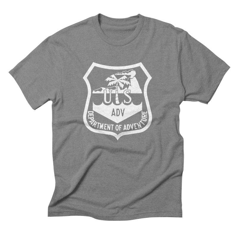 Dept. of Adventure - Tropical (Inverted) Men's Triblend T-Shirt by CLINTZERO ONLINE SHOP
