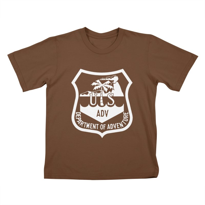 Dept. of Adventure - Tropical (Inverted) Kids T-Shirt by CLINTZERO ONLINE SHOP