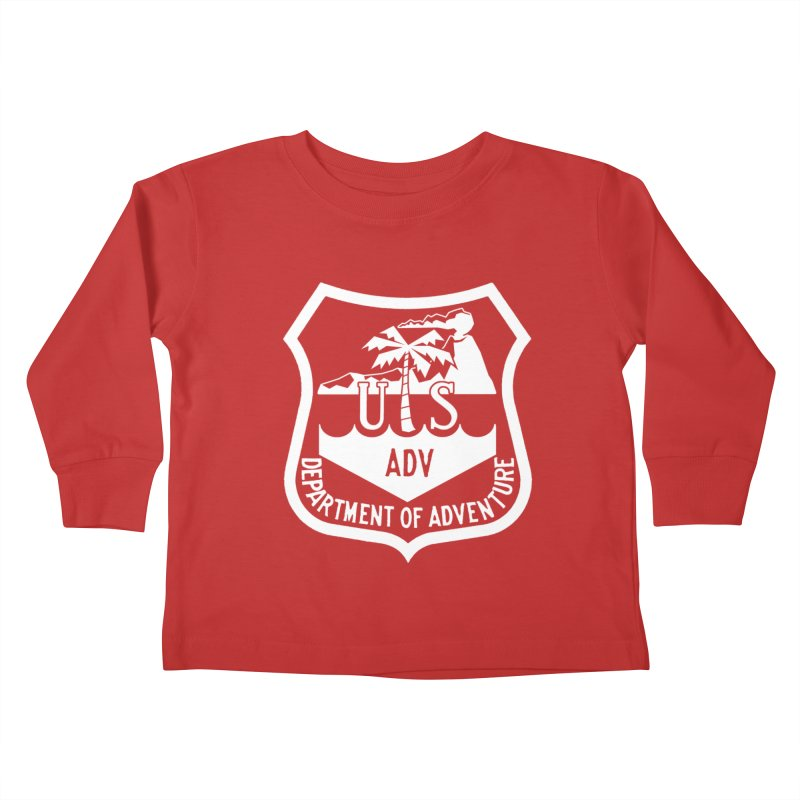 Dept. of Adventure - Tropical (Inverted) Kids Toddler Longsleeve T-Shirt by CLINTZERO ONLINE SHOP