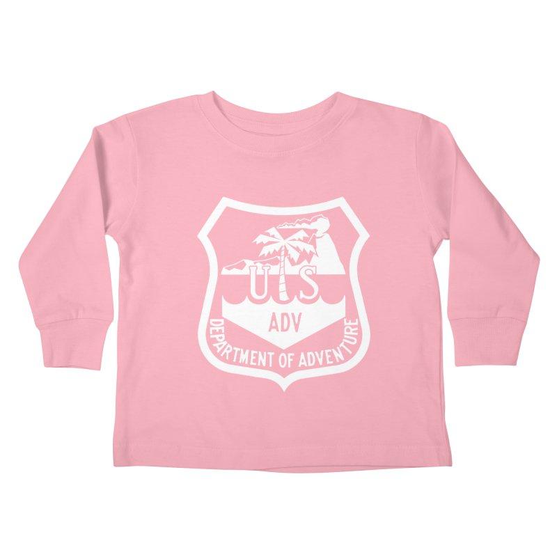 Dept. of Adventure - Tropical (Inverted) Kids Toddler Longsleeve T-Shirt by CLINTZERO ONLINE SHOP