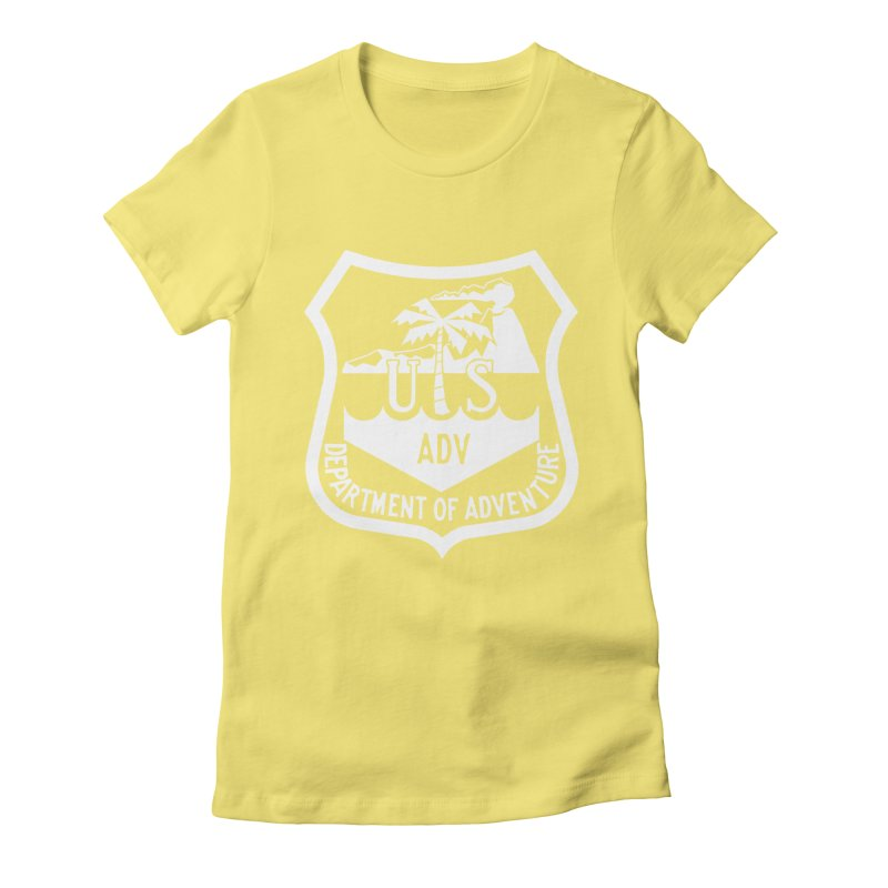 Dept. of Adventure - Tropical (Inverted) Women's Fitted T-Shirt by CLINTZERO ONLINE SHOP