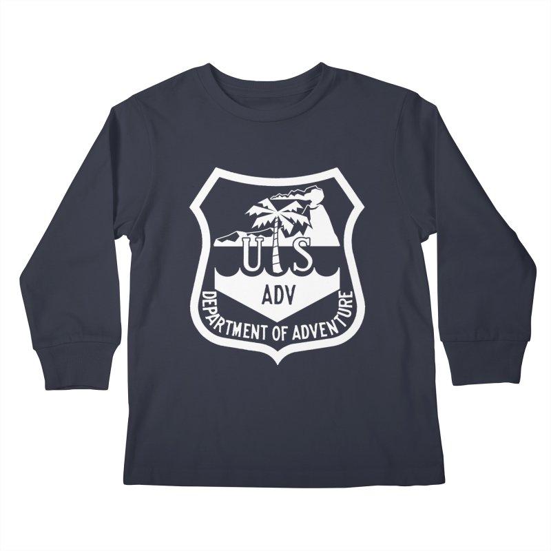 Dept. of Adventure - Tropical (Inverted) Kids Longsleeve T-Shirt by CLINTZERO ONLINE SHOP