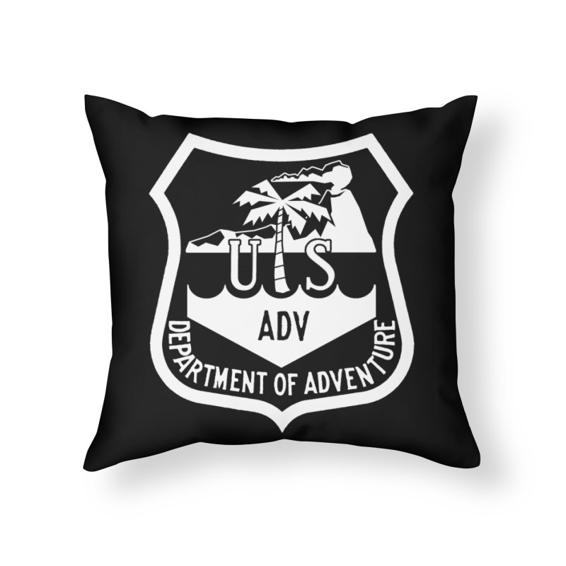 Dept. of Adventure - Tropical (Inverted) Home Throw Pillow by CLINTZERO ONLINE SHOP