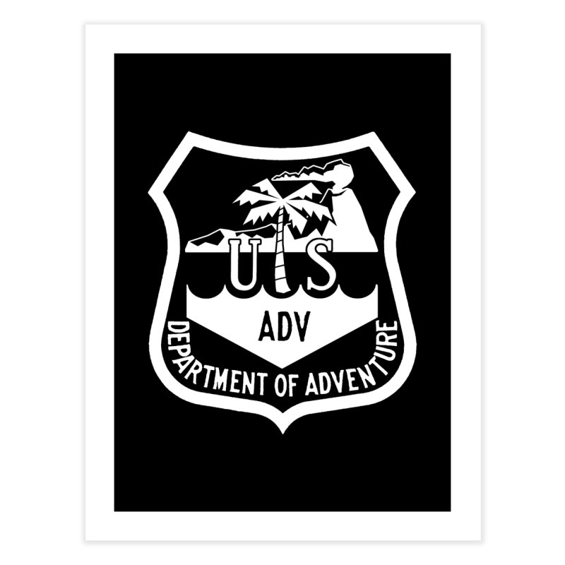 Dept. of Adventure - Tropical (Inverted) Home Fine Art Print by CLINTZERO ONLINE SHOP