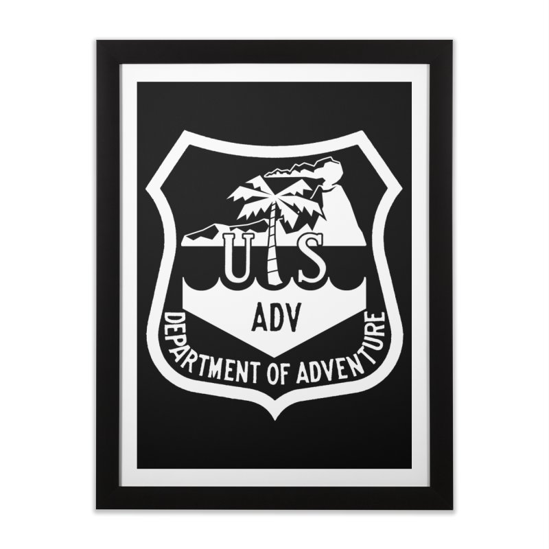 Dept. of Adventure - Tropical (Inverted) Home Framed Fine Art Print by CLINTZERO ONLINE SHOP