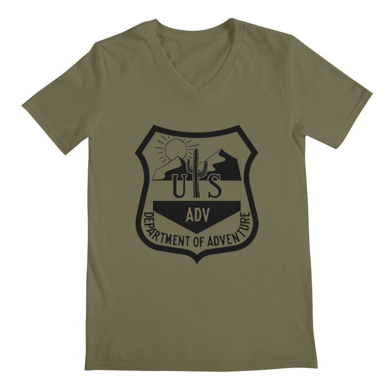 Dept. of Adventure - Desert Men's V-Neck by CLINTZERO ONLINE SHOP
