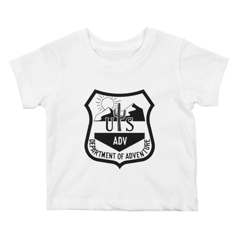 Dept. of Adventure - Desert Kids Baby T-Shirt by CLINTZERO ONLINE SHOP