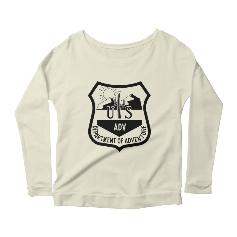 Dept. of Adventure - Desert Women's Longsleeve Scoopneck  by CLINTZERO ONLINE SHOP