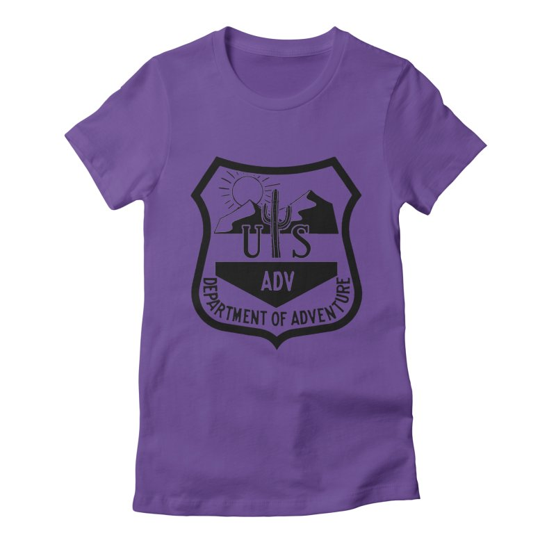 Dept. of Adventure - Desert Women's Fitted T-Shirt by CLINTZERO ONLINE SHOP