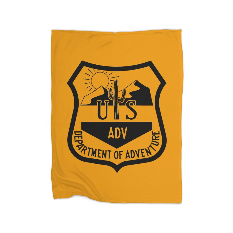 Dept. of Adventure - Desert Home Fleece Blanket Blanket by CLINTZERO ONLINE SHOP