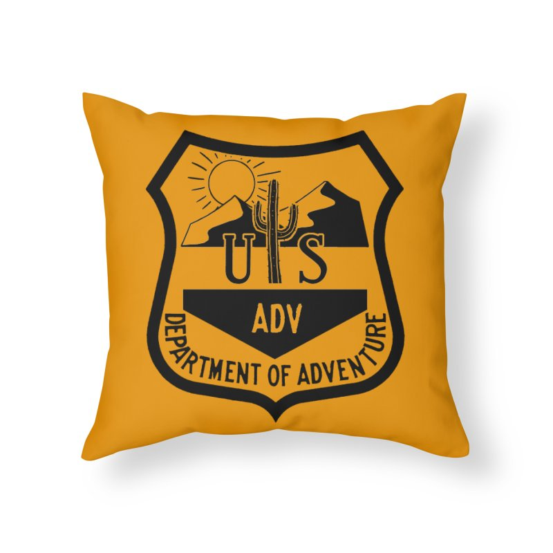 Dept. of Adventure - Desert Home Throw Pillow by CLINTZERO ONLINE SHOP