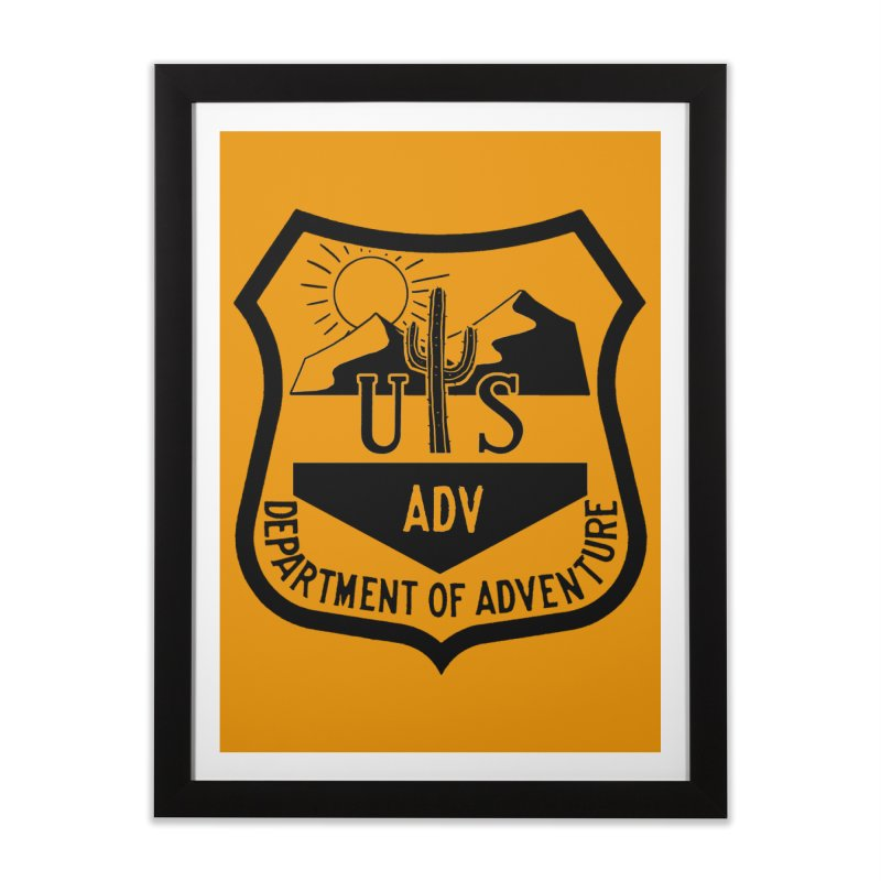 Dept. of Adventure - Desert Home Framed Fine Art Print by CLINTZERO ONLINE SHOP