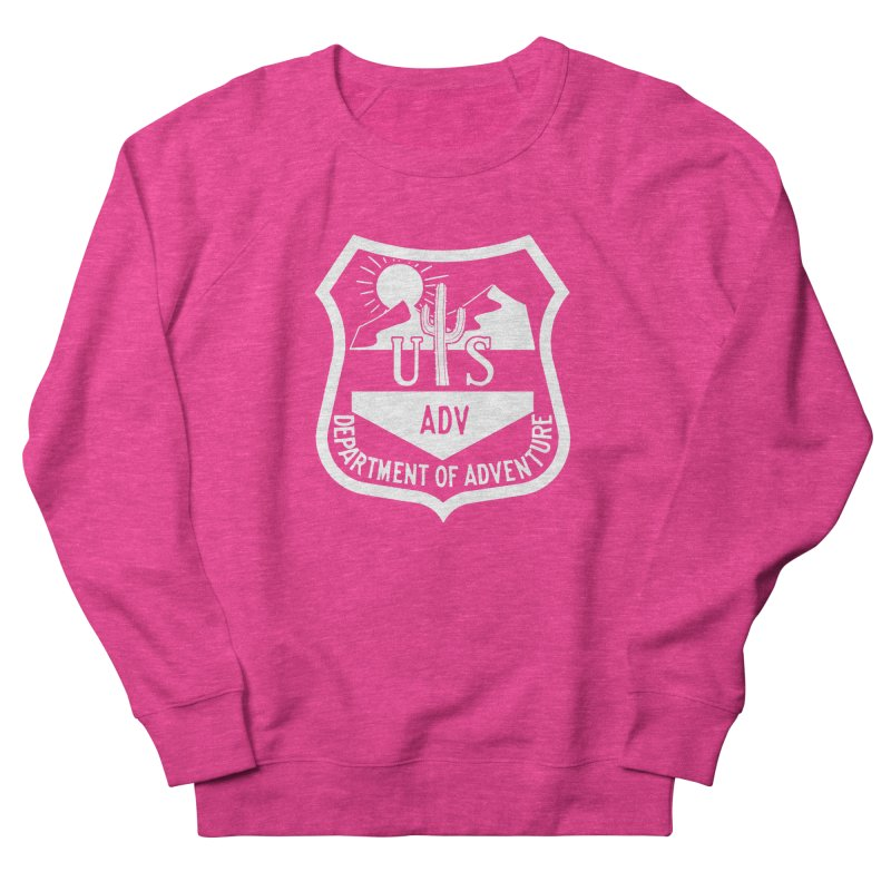 Dept. of Adventure - Desert (Inverted) Women's French Terry Sweatshirt by CLINTZERO ONLINE SHOP